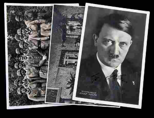 WWII GERMAN THIRD REICH SIGNED HITLER PHOTO LOT