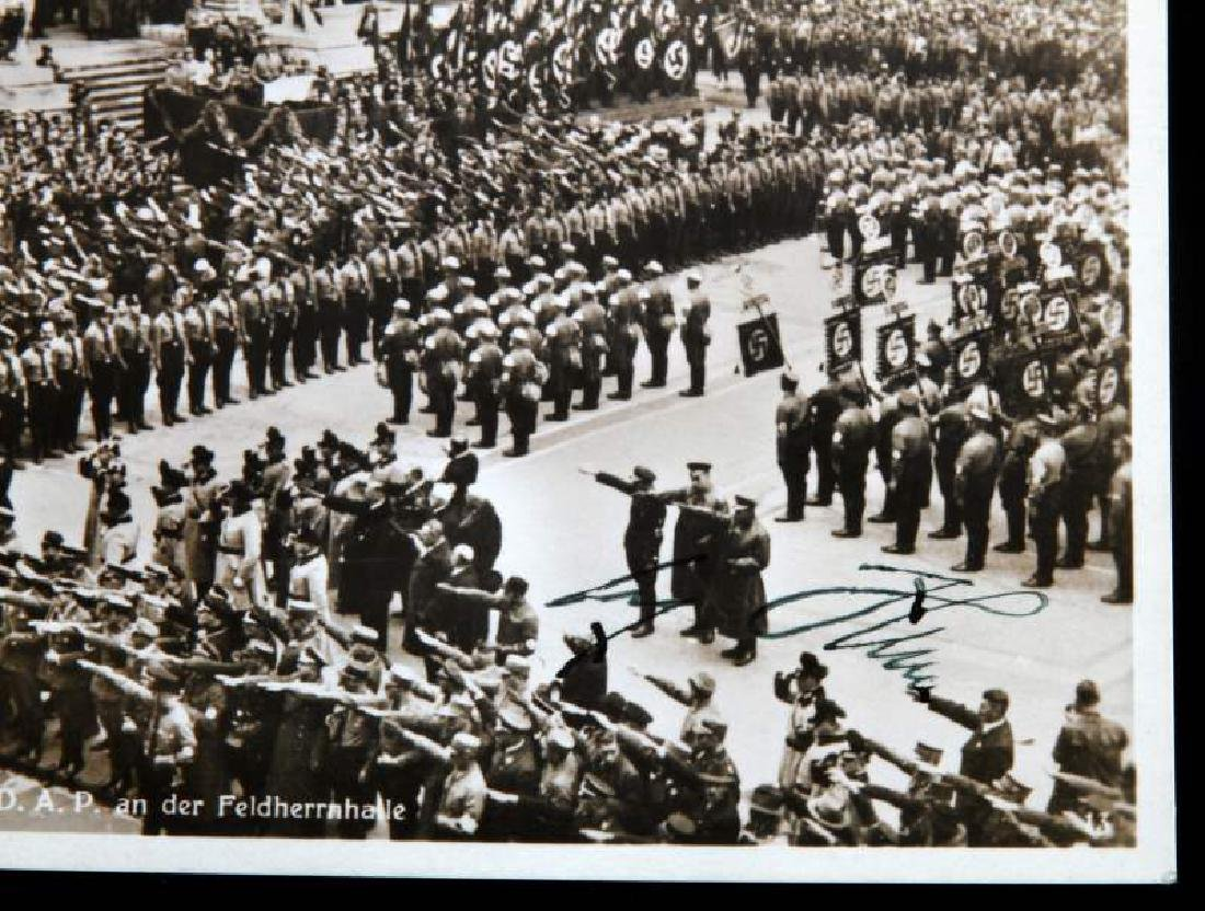 WWII GERMAN 3RD REICH SIGNED ADOLF HITLER POSTCARD - 2