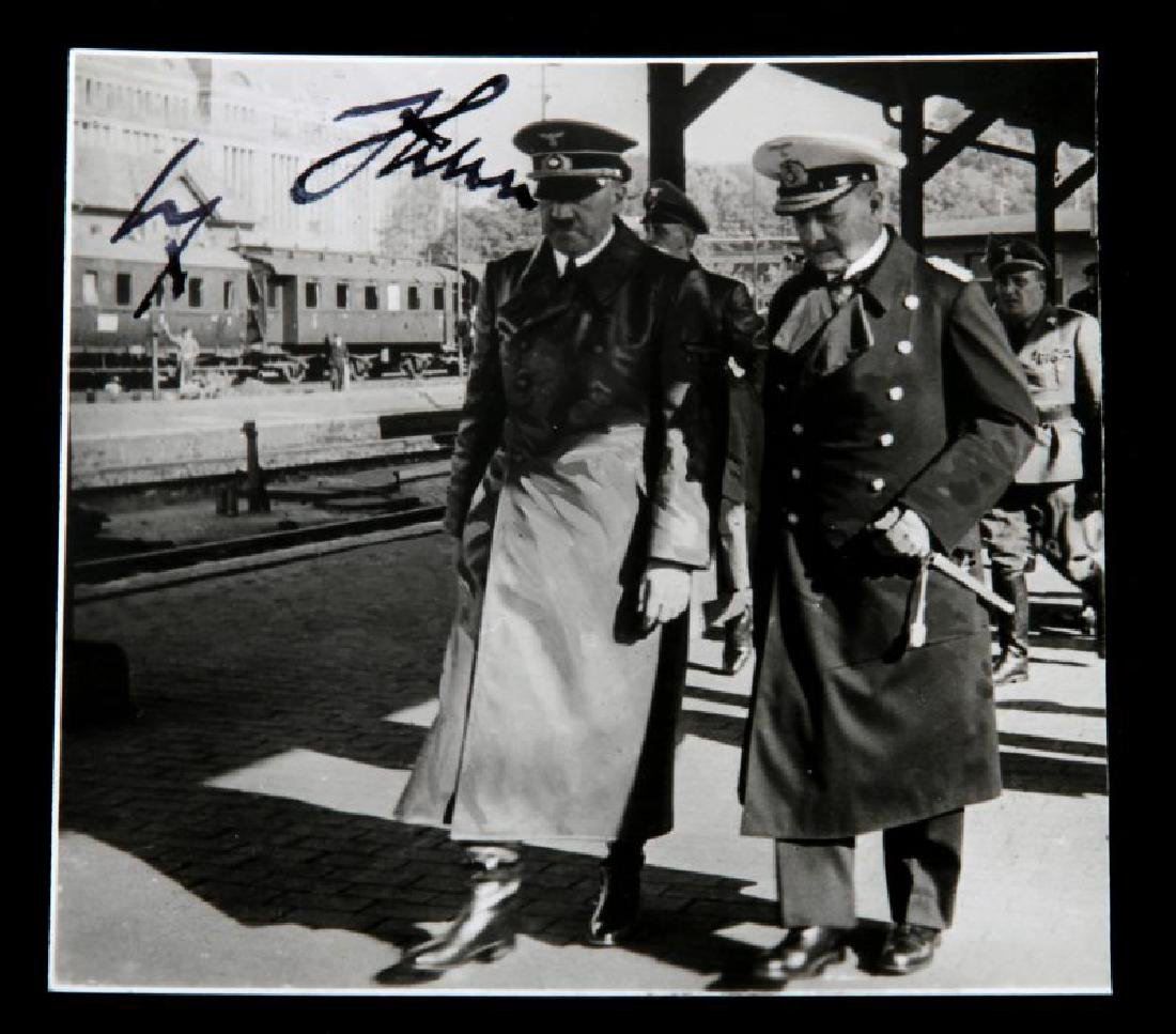 WWII GERMAN THIRD REICH HITLER AND RAEDER PHOTO