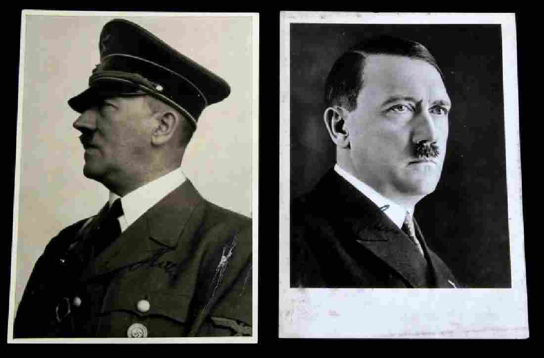 WWII GERMAN THIRD REICH HITLER SIGNED POSTCARD LOT