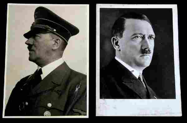 WWII GERMAN THIRD REICH HITLER SIGNED POSTCARD LOT