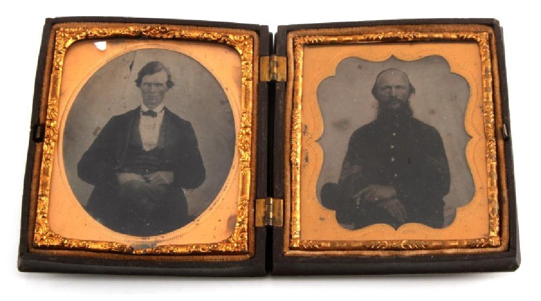 CIVIL WAR DAGUERREOTYPE UNION SGT. & BROTHER