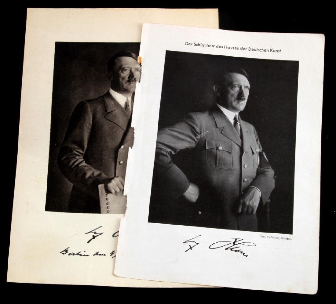 PAIR OF 3RD REICH GERMAN NSDAP PORTRAIT OF FUHRER