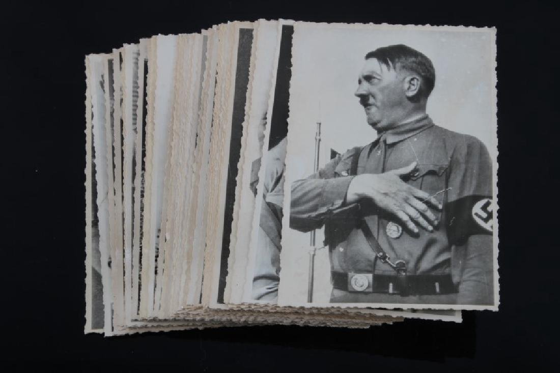 PAIR OF WWII GERMAN FUHRER SIGNED HITLER PHOTOS