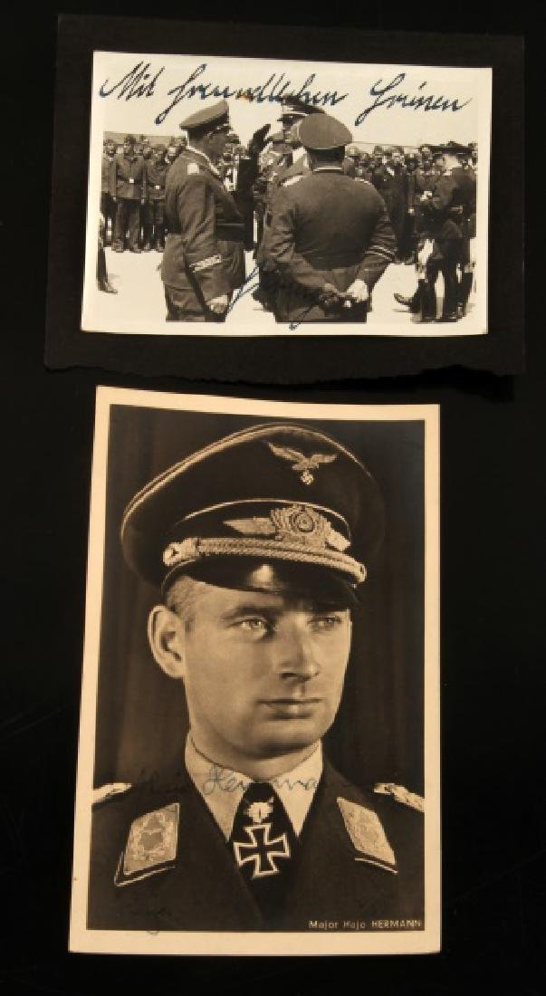 PAIR OF THIRD REICH WWII SIGNED ACE MILITARY PHOTO