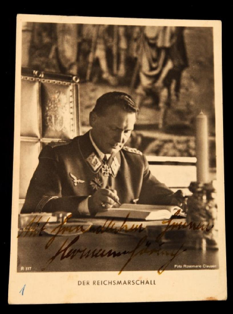 WWII GERMAN NSDAP THIRD REICH GORING SIGNED PHOTO