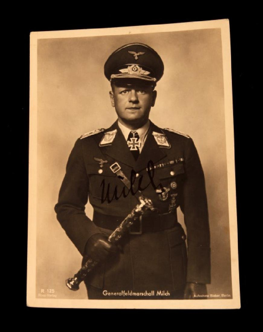 WWII GERMAN THIRD REICH GENERAL MILCH SIGNED PHOTO