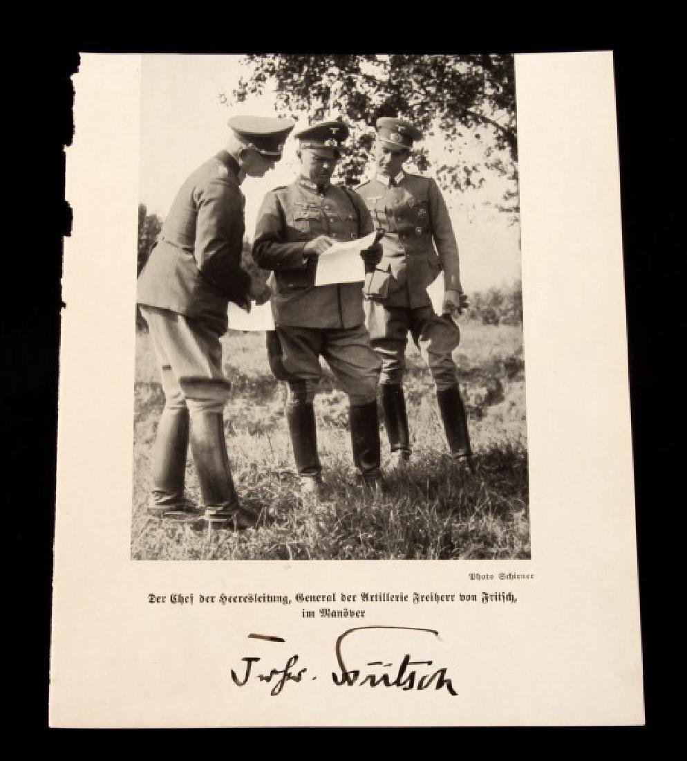 RARE THIRD REICH GENERAL VON FRITSCH SIGNED PHOTO