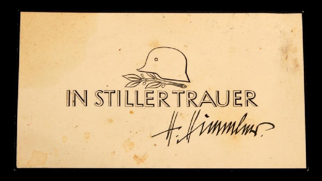 WWII GERMAN THIRD REICH SS CARD HIMMLER SIGNATURE