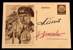 THIRD REICH SEPP DIETRICH  HHIMMLER SIGNED CARD