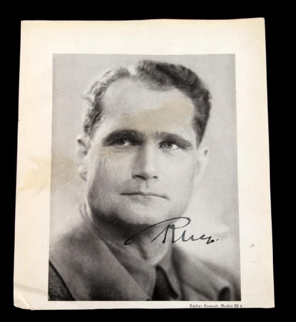 RUDOLF HESS SIGNED BLACK & WHITE PORTRAIT PHOTO