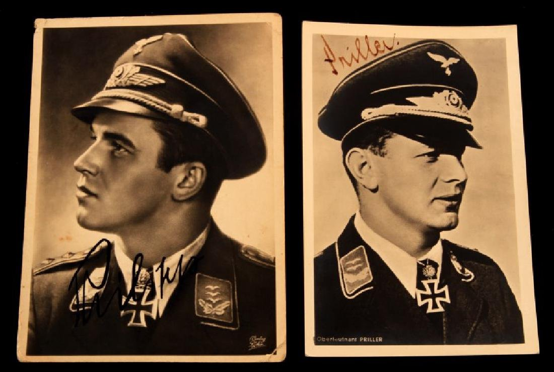 WWII GERMAN 3RD REICH LUFTWAFFE ACE SIGNATURE LOT