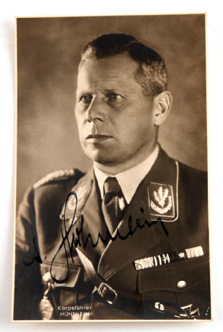 SIGNED GERMAN THIRD REICH PHOTO OF ADOLF HUHNLEIN