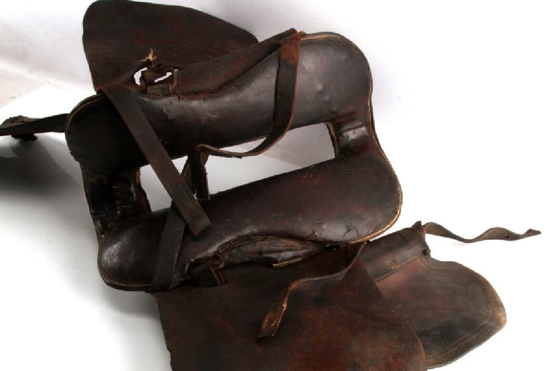ANTIQUE FRONTIER ERA DECORATED LEATHER SADDLE - 7