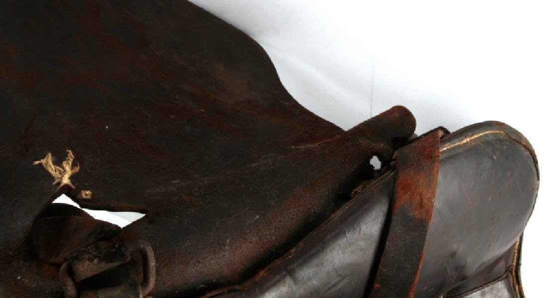 ANTIQUE FRONTIER ERA DECORATED LEATHER SADDLE - 8