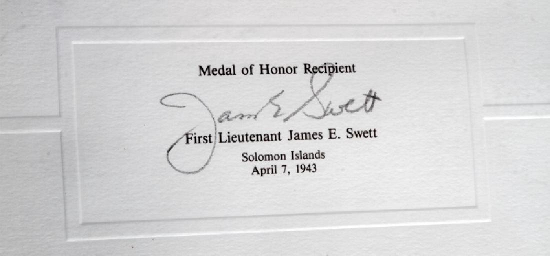 WWII US MEDAL OF HONOR RECIPIENT SIGNED PRINT - 3