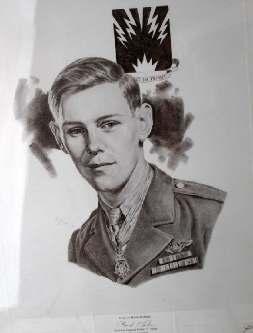 WWII US MEDAL OF HONOR RECIPIENT SIGNED PRINT - 4