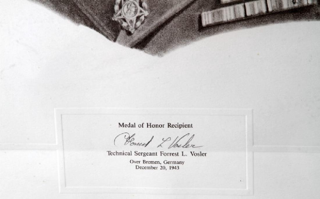 WWII US MEDAL OF HONOR RECIPIENT SIGNED PRINT - 5