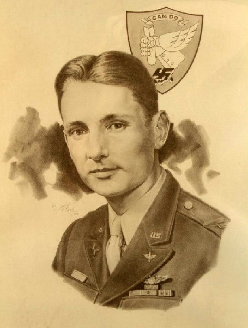 WWII US MEDAL OF HONOR RECIPIENT SIGNED PRINT - 6