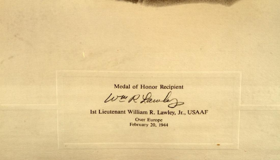 WWII US MEDAL OF HONOR RECIPIENT SIGNED PRINT - 7