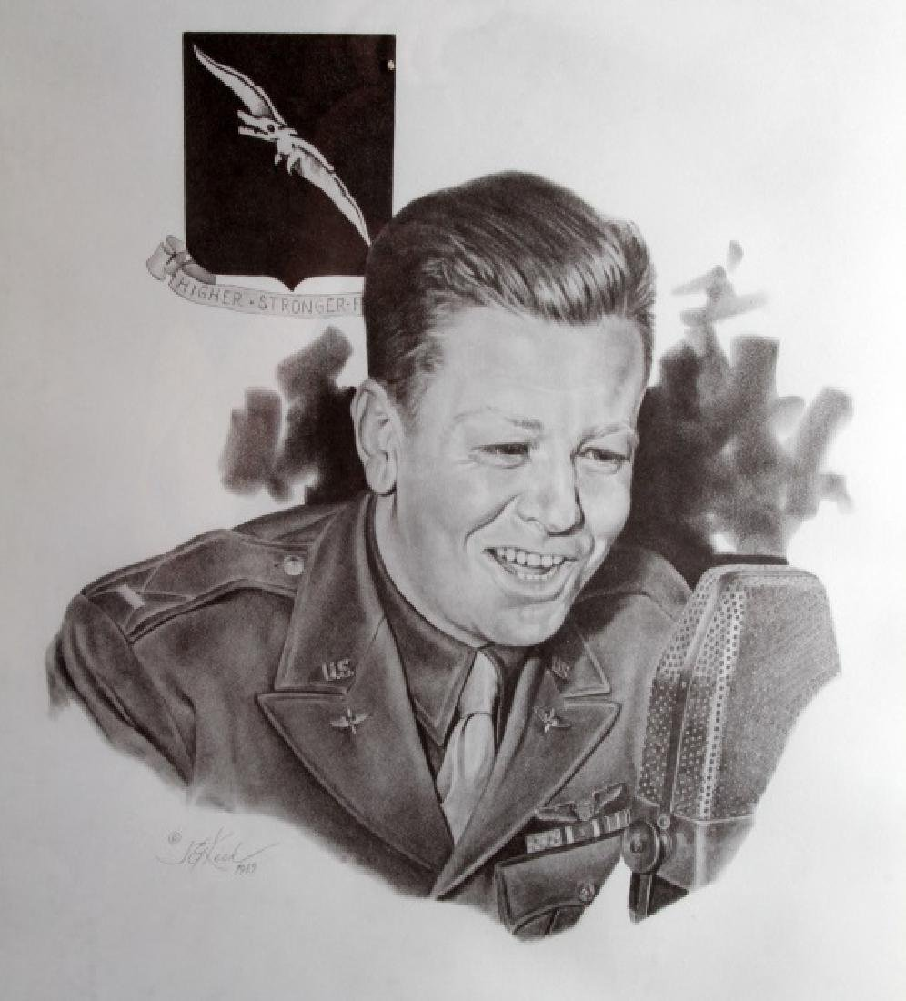 WWII US MEDAL OF HONOR RECIPIENT SIGNED PRINT - 8