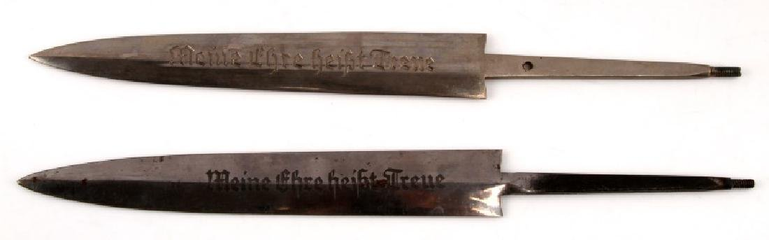 WWII GERMAN THIRD REICH SS BLADE AND SCABBARD LOT - 2
