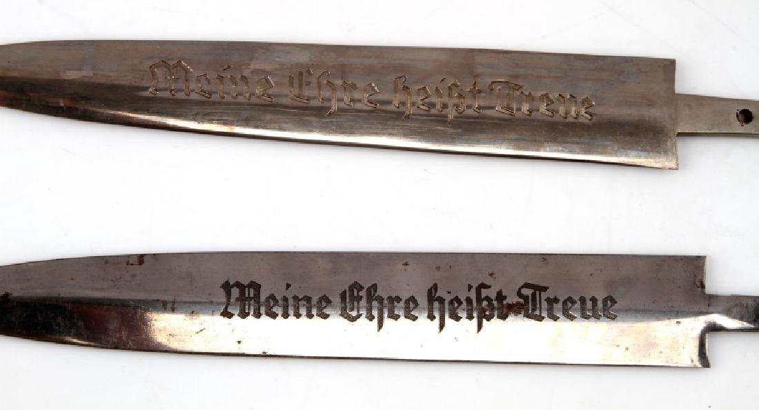 WWII GERMAN THIRD REICH SS BLADE AND SCABBARD LOT - 3