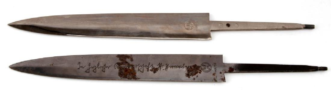 WWII GERMAN THIRD REICH SS BLADE AND SCABBARD LOT - 4