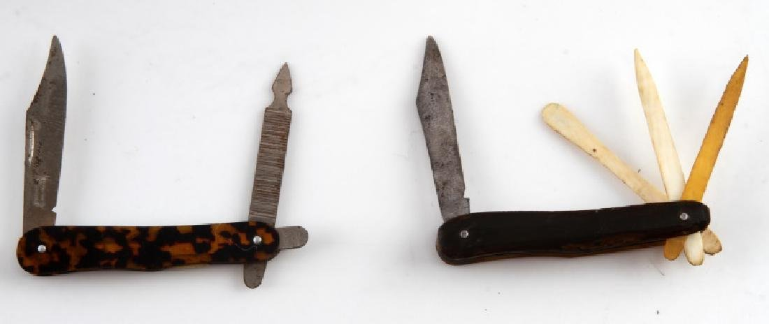 ANTIQUE TORTOISE SHELL POCKET KNIFE LOT OF 2