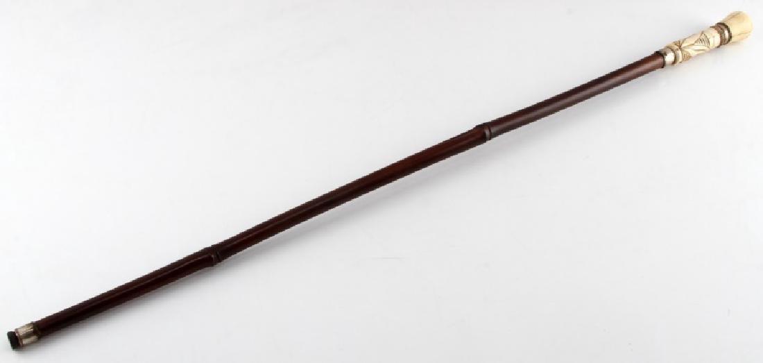 ANTIQUE BONE GRIP HANDLE SWORD CANE WALKING STICK - 2
