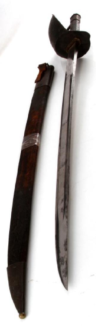 FRENCH NAVAL CUTLASS M1833 ENGRAVED W SCABBARD - 3