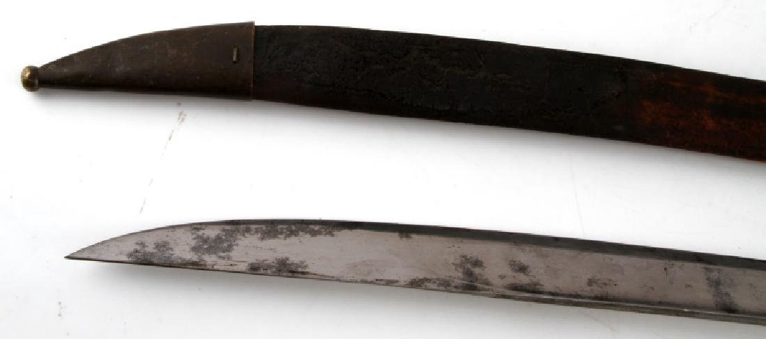 FRENCH NAVAL CUTLASS M1833 ENGRAVED W SCABBARD - 5