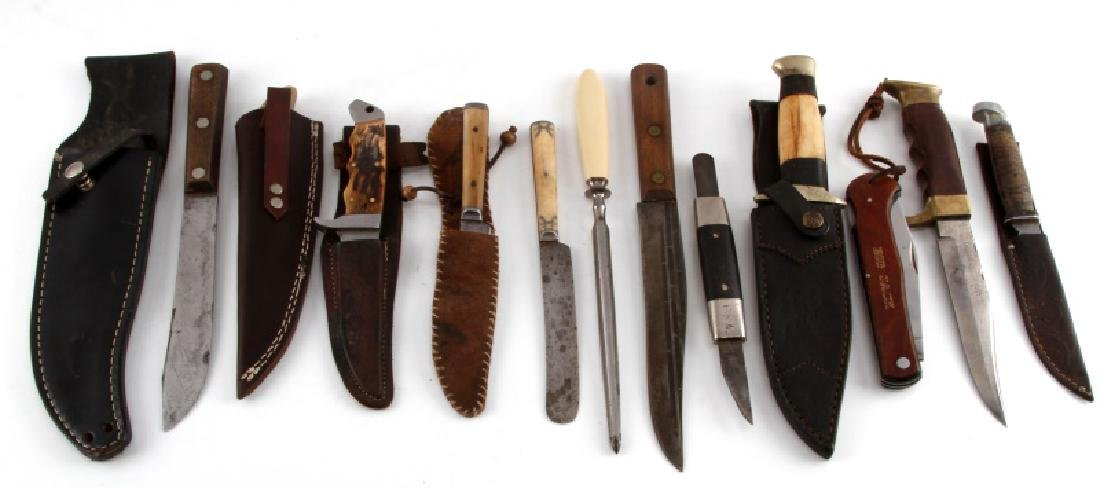 COLLECTION OF 12 ANTIQUE & VINTAGE KNIFE LOT BOWIE