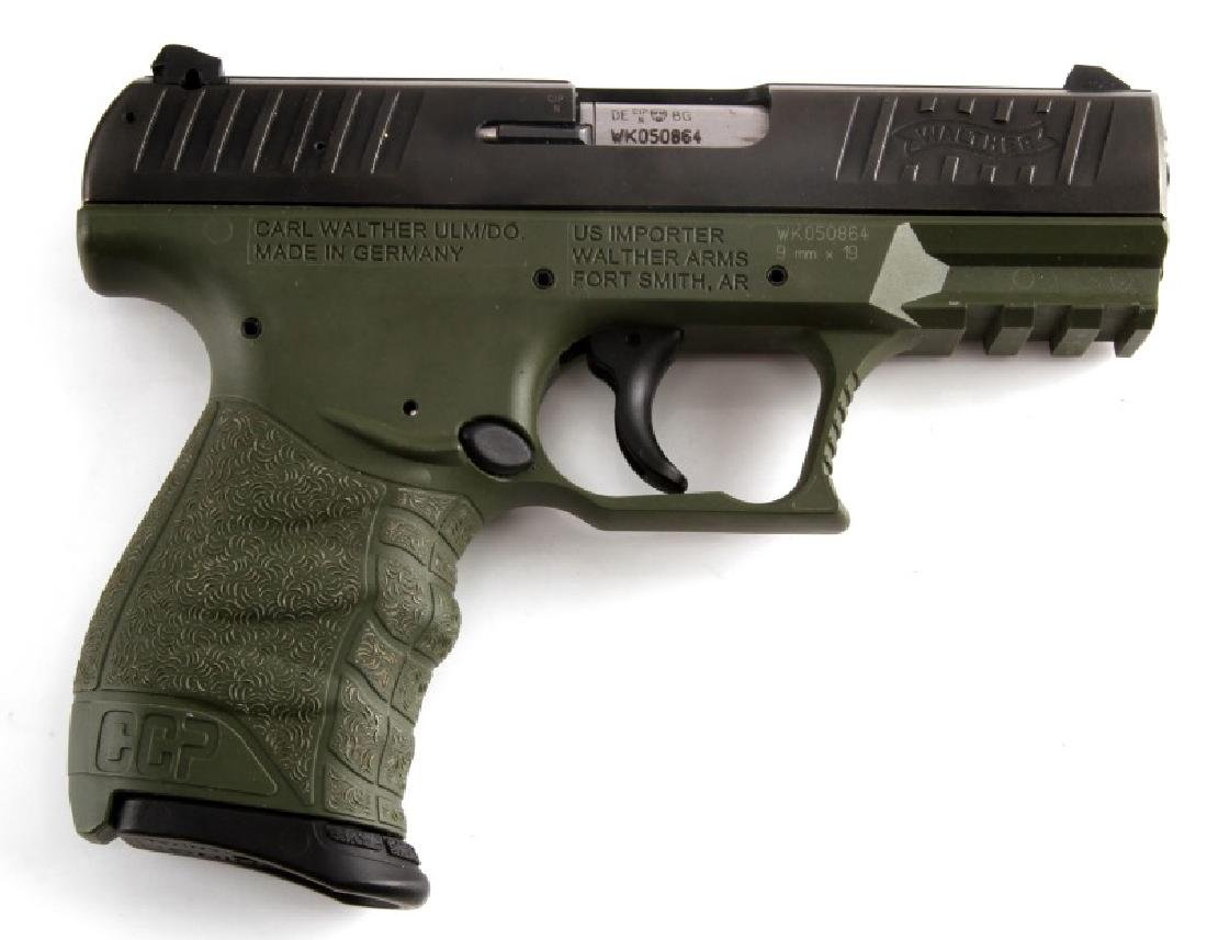 WALTHER CCP GREEN & BLACK SEMI AUTO PISTOL 9MM