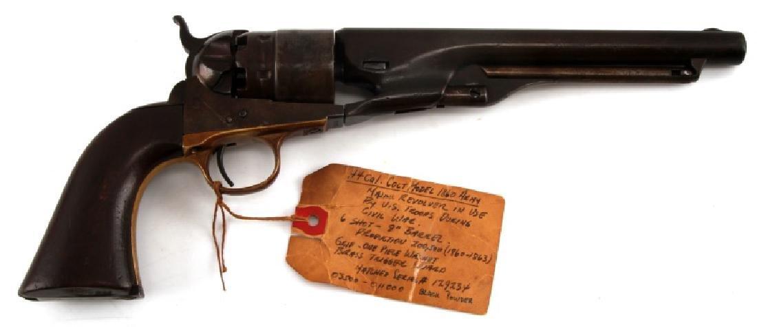 COLT 1860 ARMY 6 SHOT REVOLVER .44 CAL CIVIL WAR