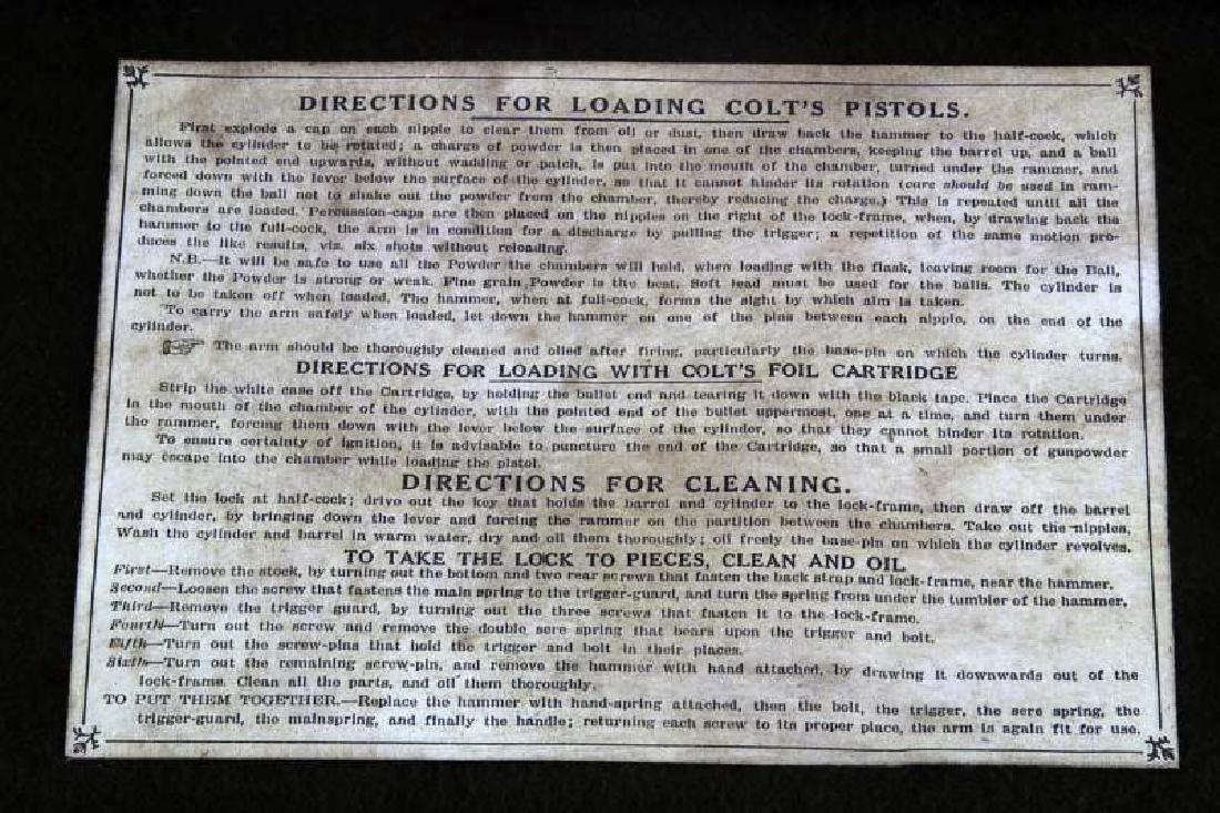 COLT MODEL 1860 ARMY 44CAL REVOLVER W CASE & MORE - 2