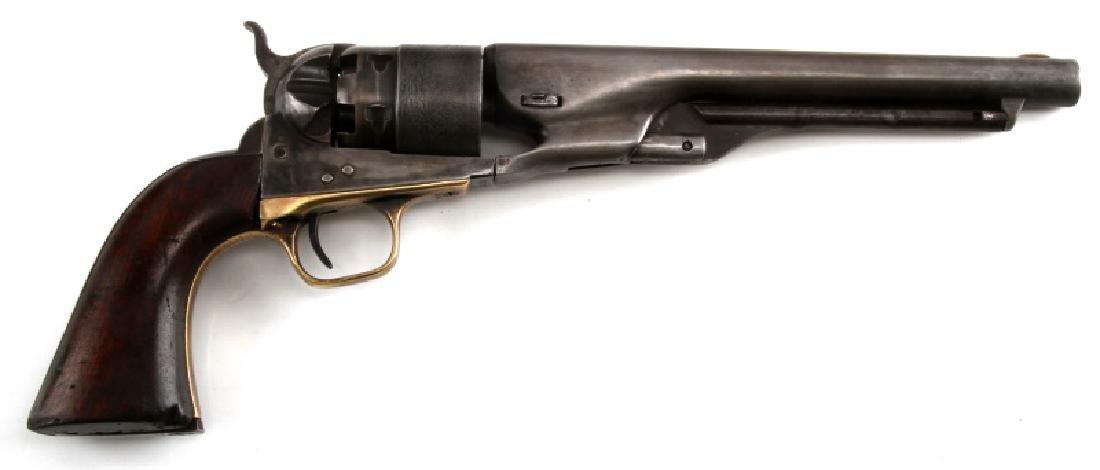 COLT MODEL 1860 ARMY 44CAL REVOLVER W CASE & MORE - 3