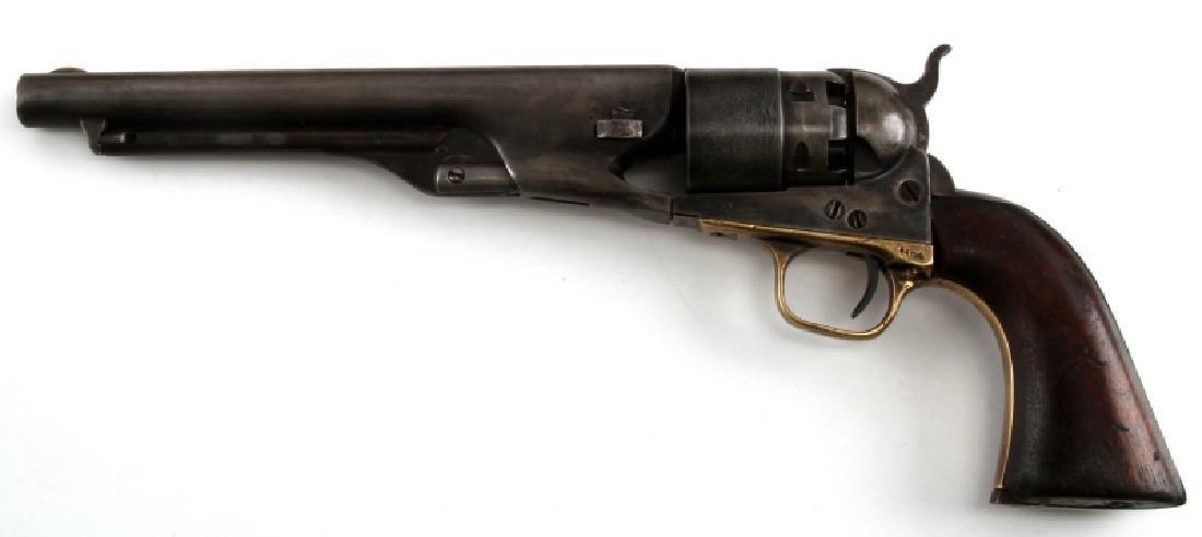 COLT MODEL 1860 ARMY 44CAL REVOLVER W CASE & MORE - 4
