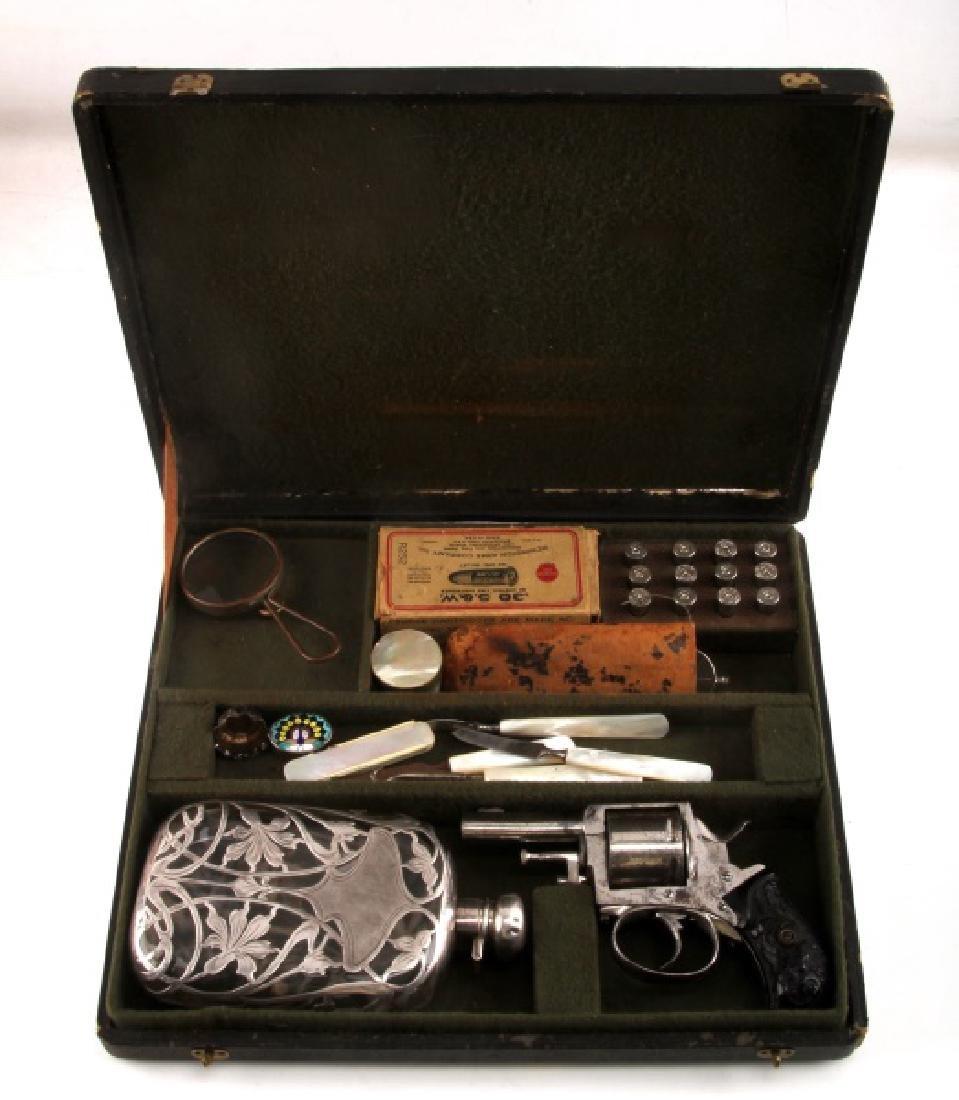 CASED BELGIAN BRITISH BULLDOG CIRCA 1890 REVOLVER