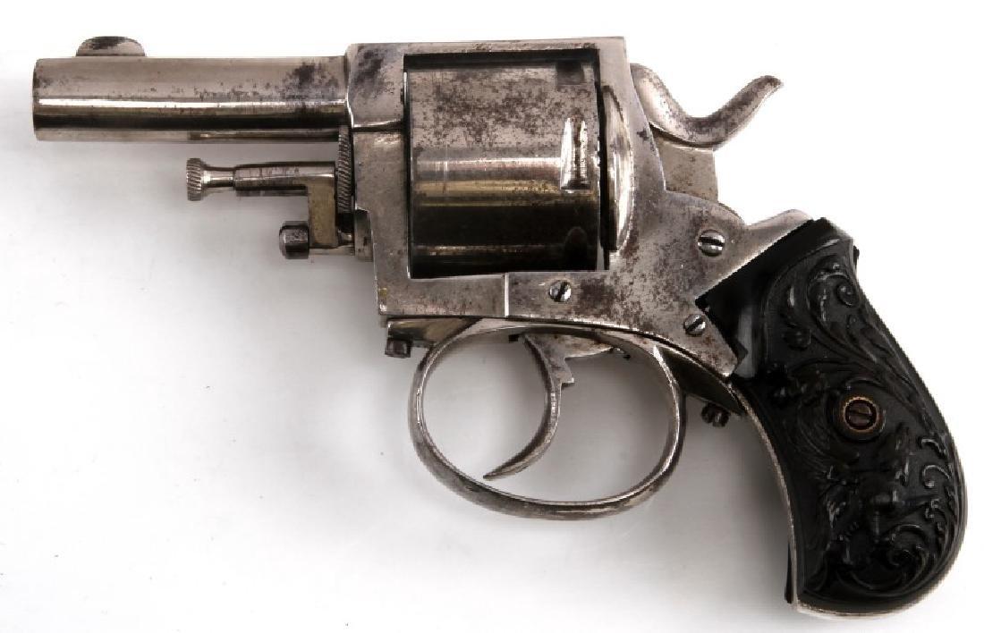 CASED BELGIAN BRITISH BULLDOG CIRCA 1890 REVOLVER - 7