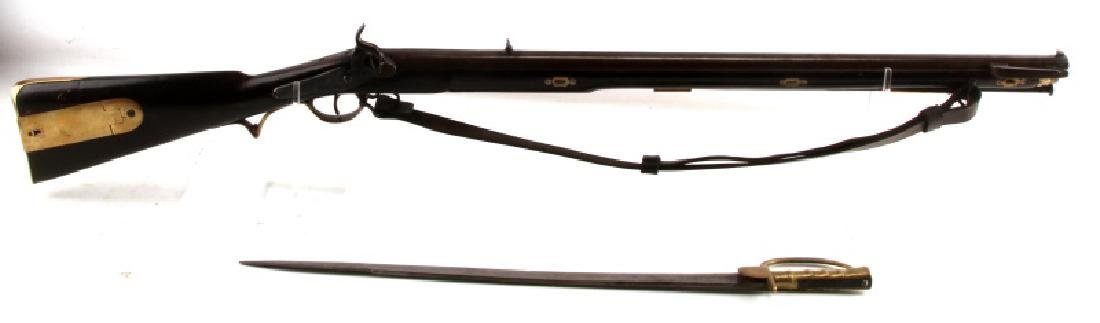 BAKER INFANTRY RIFLE CONVERTED WITH SWORD BAYONET