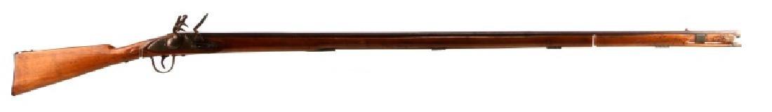 EARLY INDIAN TRADE FLINTLOCK RIFLE MUSKET .59 CAL
