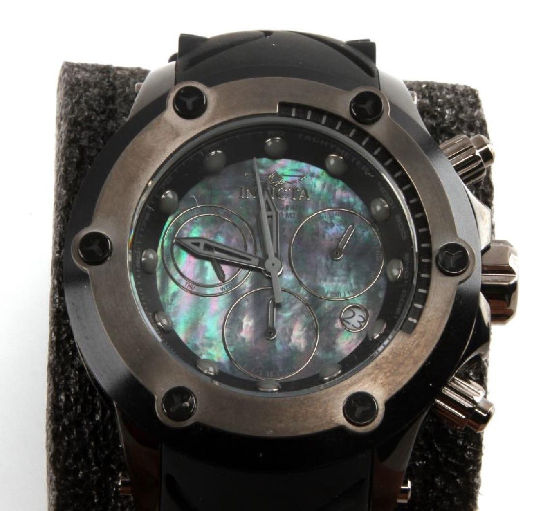 MENS INVICTA CHRONOGRAPH MOTHER OF PEARL WATCH