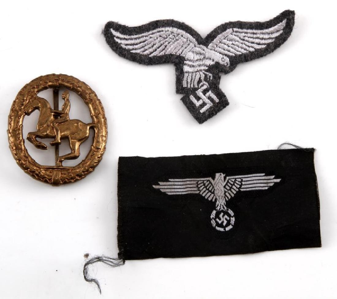 GERMAN THIRD REICH WWII GERMAN PATCH AND BADGE LOT