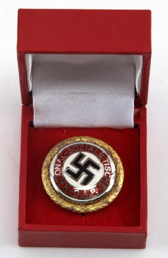 WWII GERMAN THIRD REICH NSDAP GOLD MEMBER PIN