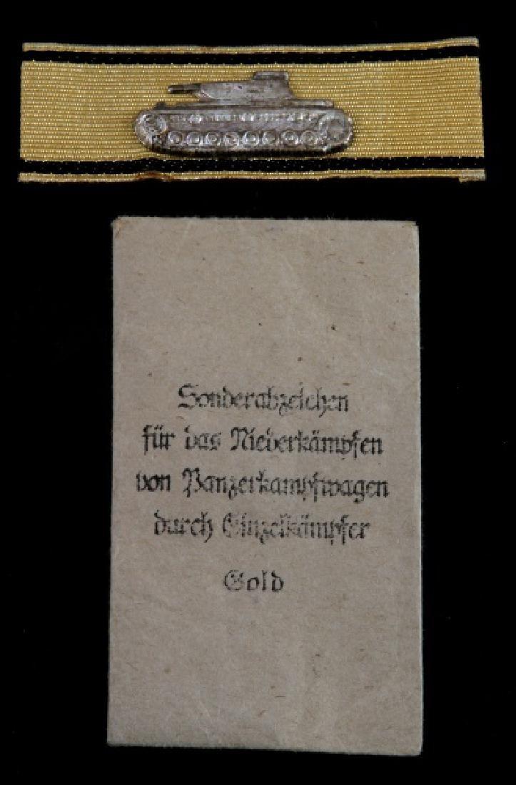 WWII GERMAN 3RD REICH GOLD TANK DESTRUCTION BADGE