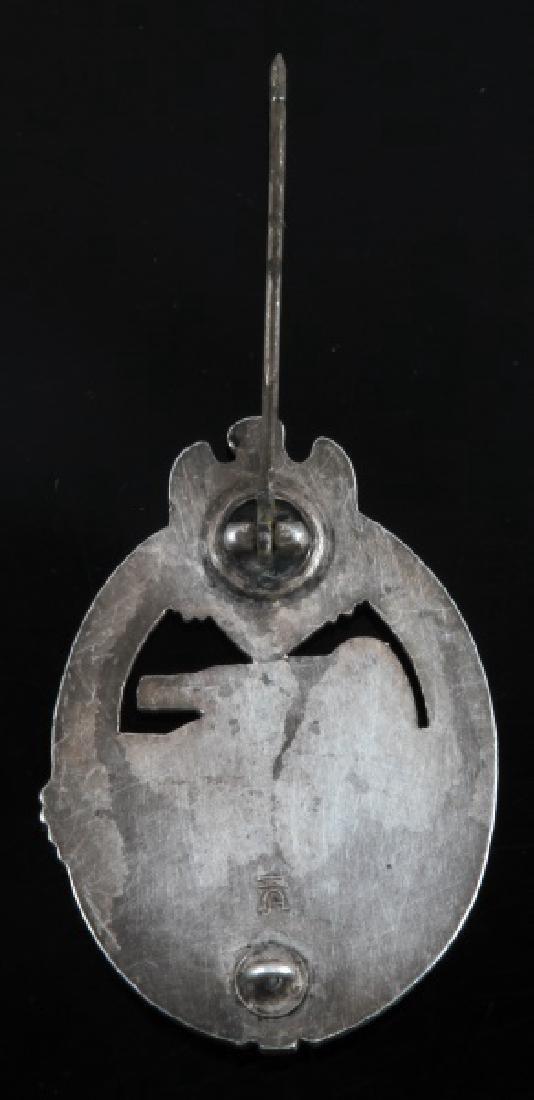 WWII GERMAN 3RD REICH SILVER PANZER ASSAULT BADGE - 3