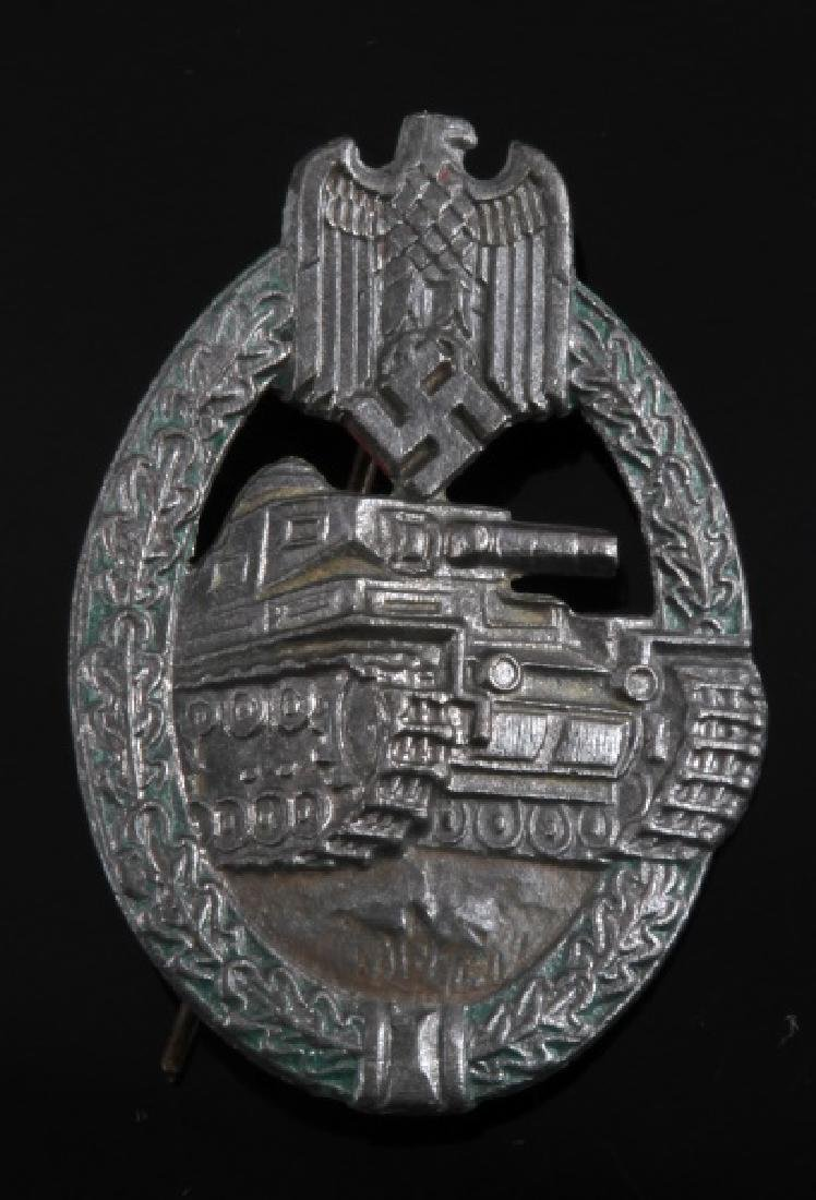 WWII NSDAP THIRD REICH SILVER PANZER ASSAULT BADGE