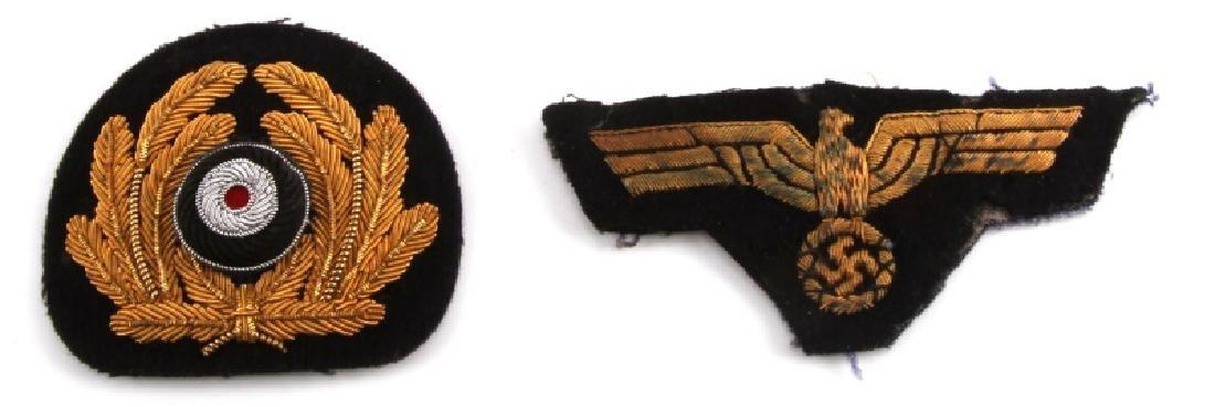 WWII GERMAN THIRD REICH KRIEGSMARINE CAP BADGE LOT