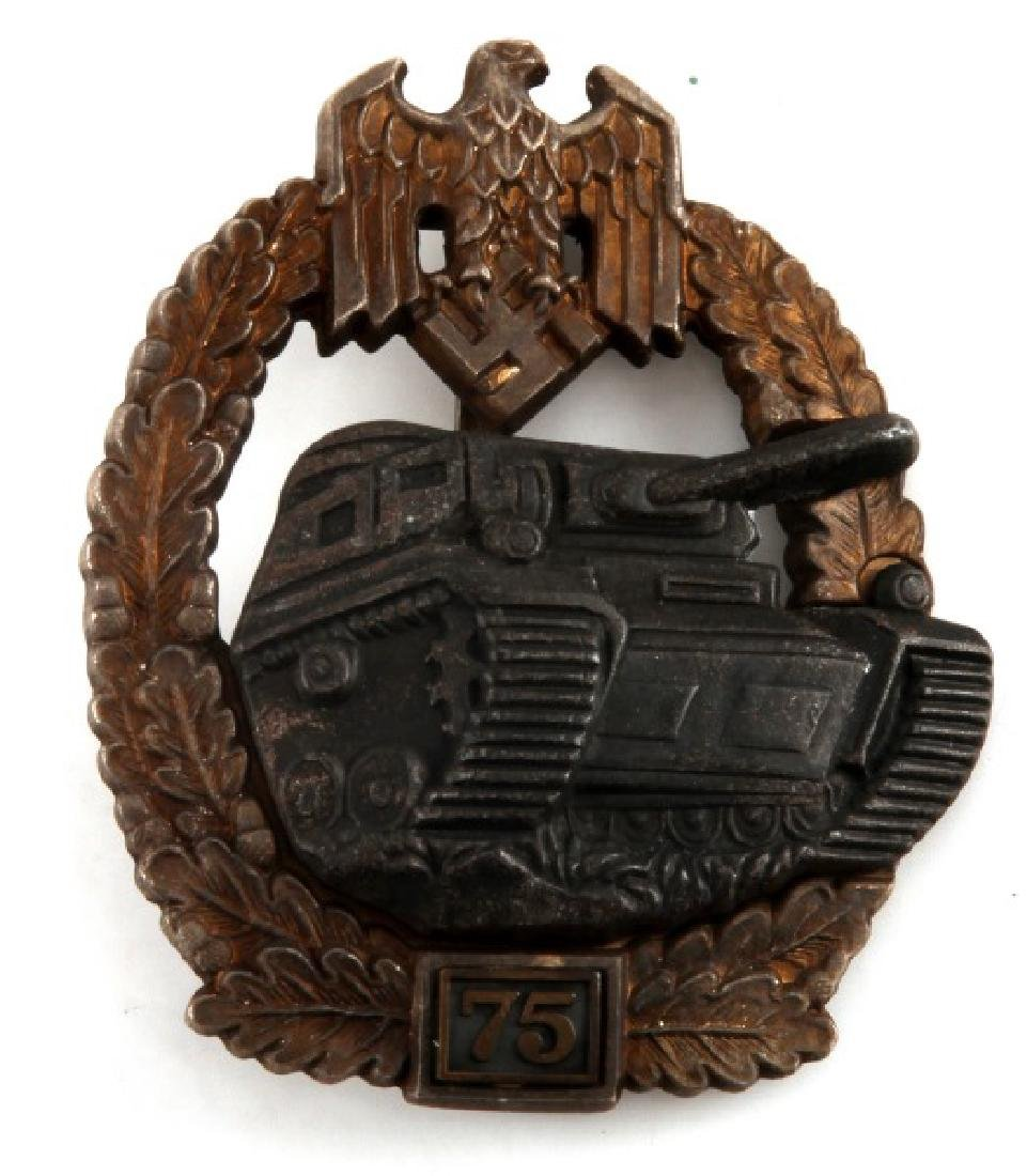 WWII GERMAN THIRD REICH PANZER ASSAULT JFS BADGE